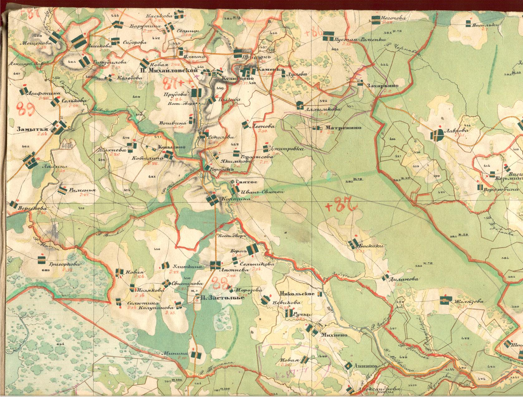 Карта тверской области менде